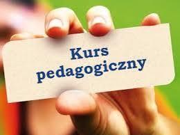 Zdjęcie z napisem Kurs pedagogiczny